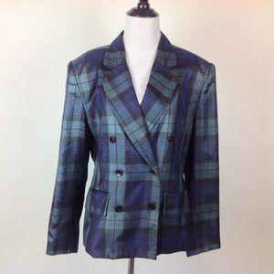 Jones New York Blazer Womens 12 Silk Plaid